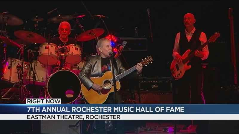 Paul Simon appears at Rochester Music Hall of Fame induction