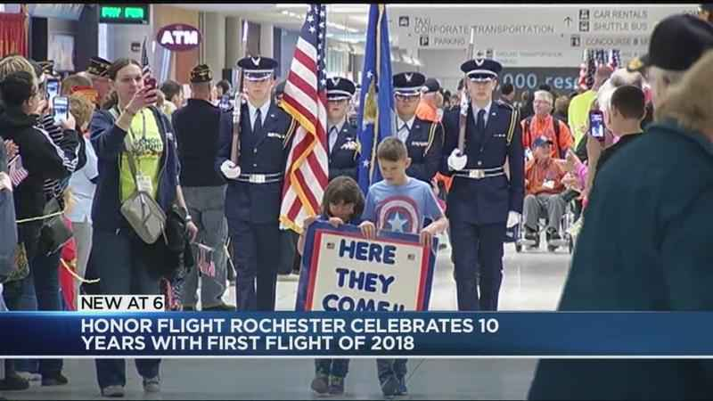 Rochester veterans return home from Honor Flight trip