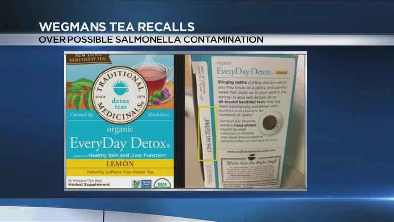 Tea sold at Wegmans recalled over possible salmonella contamination