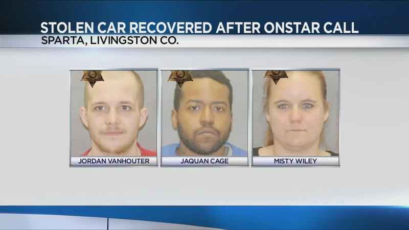 Three arrested after Onstar used to find stolen car