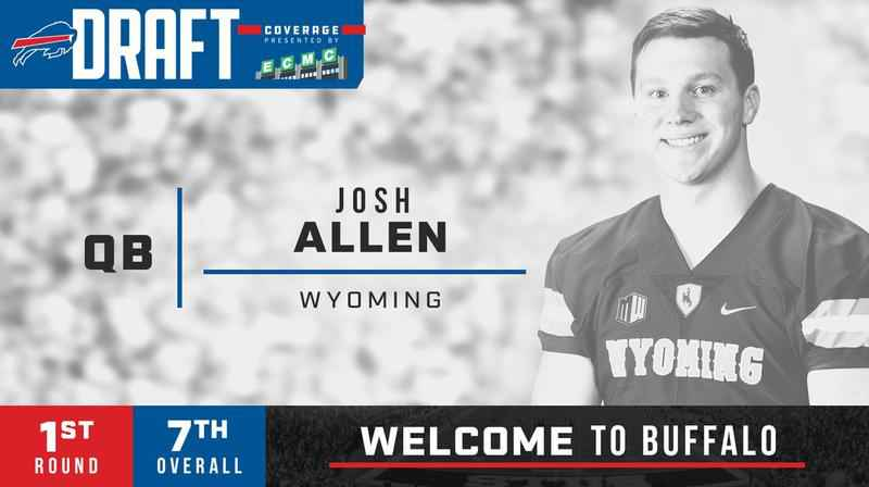 Buffalo Bills draft quarterback Josh Allen of Wyoming