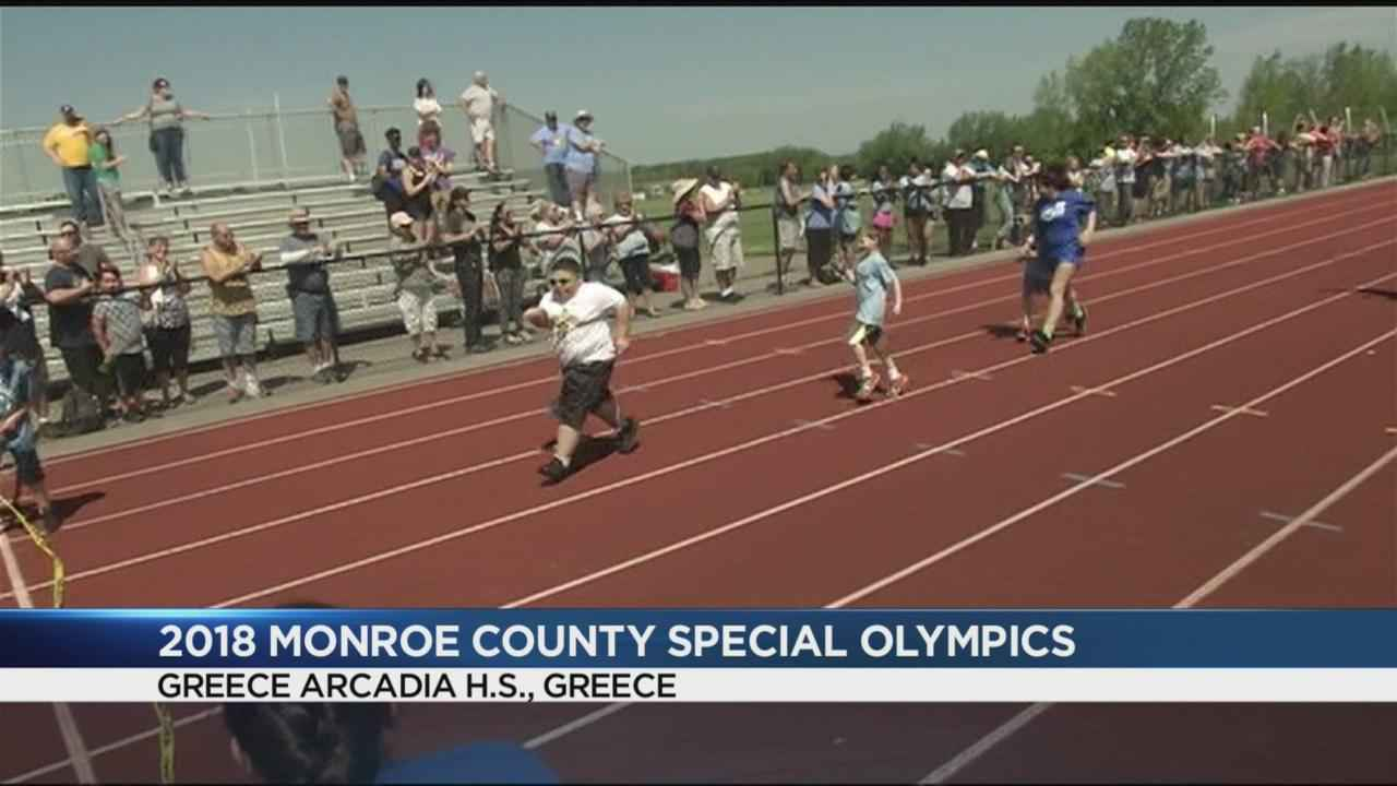Hundreds of athletes come out for the Monroe County Special Olympics