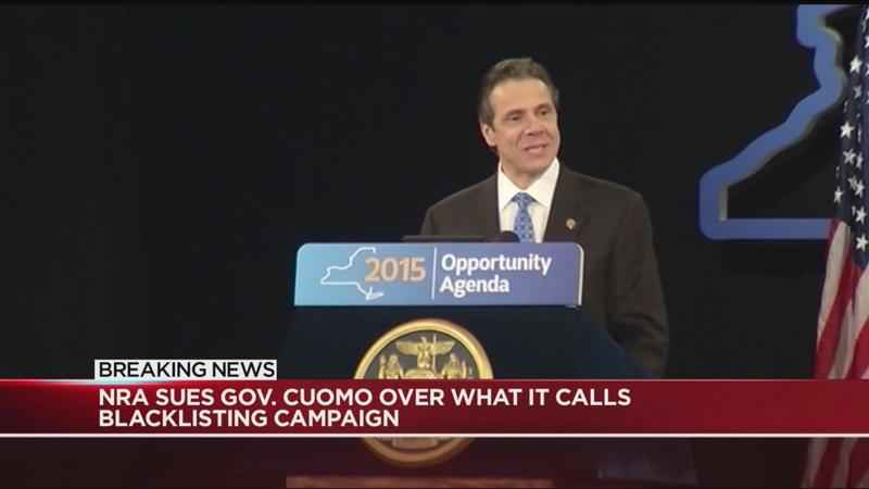 NRA sues Andrew Cuomo over what it calls blacklisting campaign