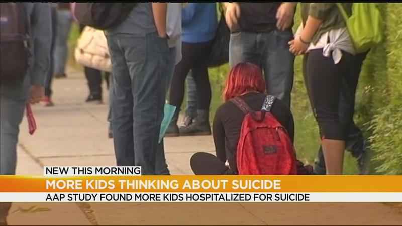 Study: More kids thinking about suicide
