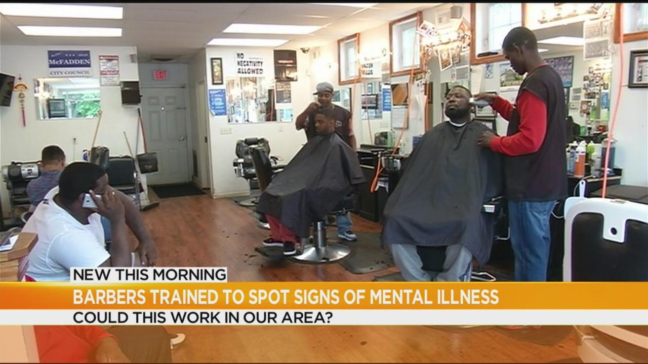 Should barbers be trained to spot signs of mental illness?