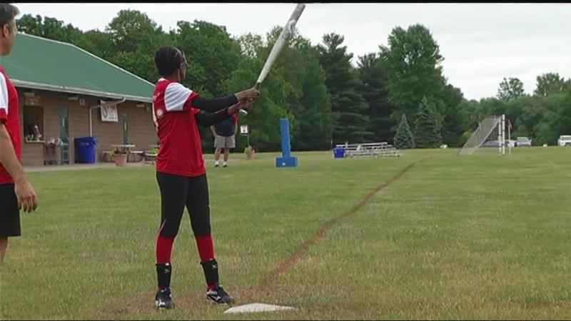 Blind Rochester athletes take to the diamond