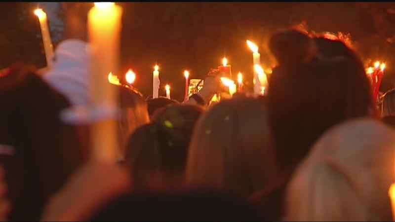 Hundreds attend vigil to remember fallen Hilton teen