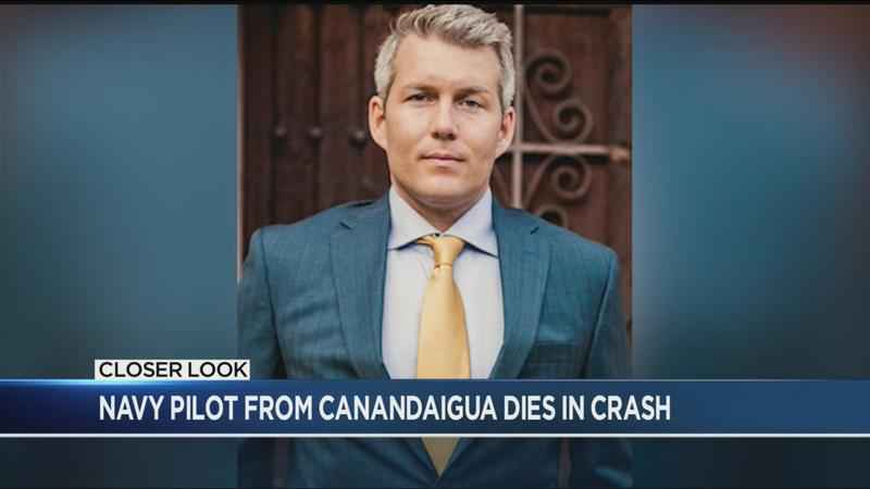 Navy pilot from Canandaigua dies in crash