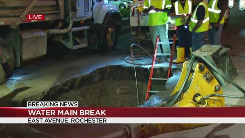 Water main break on East Avenue, businesses' affected