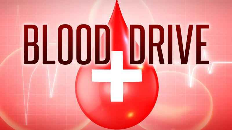 Annual blood drive to be held on June 26