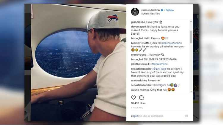 Rasmus Dahlin touches down in Buffalo