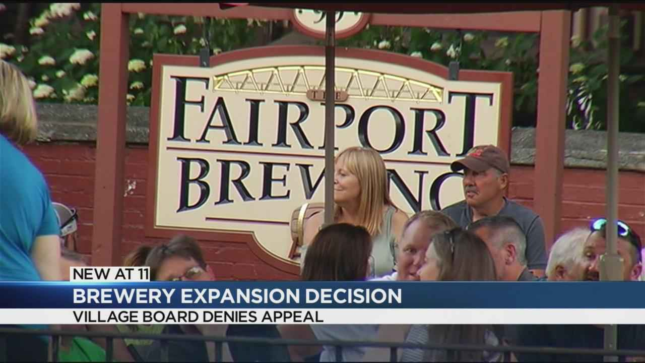 Fairport Village Board denies appeal for brewing company expansion