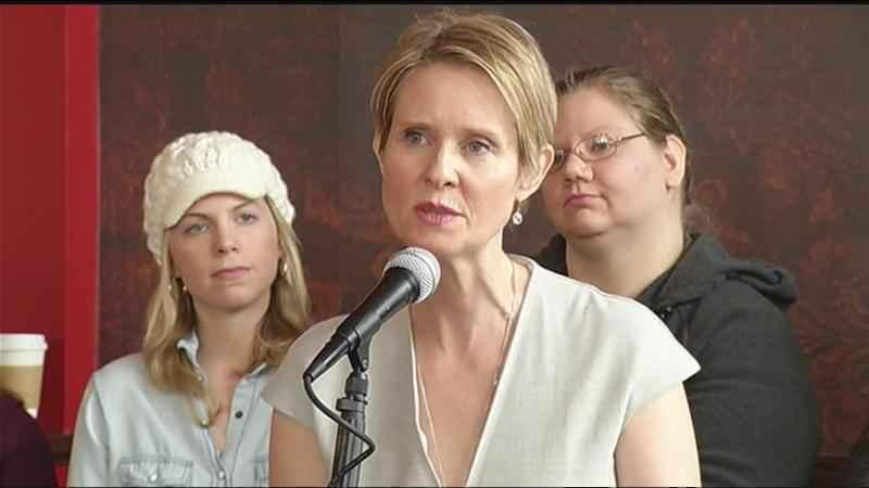 Donate to Cynthia Nixon campaign for NY governor, win a bong