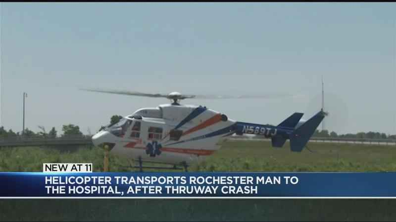 Helicopter Transports Rochester Car Accident Victim To Hospital