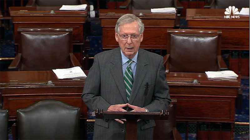 Mitch McConnell Confronted By Protesters Shouting, 'Where Are The Babies, Mitch?'