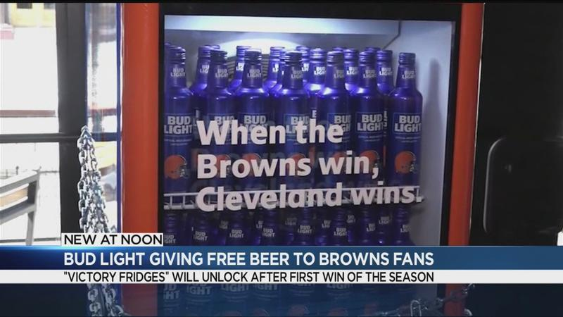 Bud Light to give Cleveland Browns fans free beer if team wins a game
