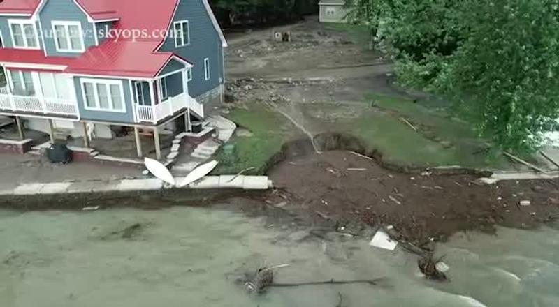 News10NBC brings you 4K footage of Seneca County flooding aftermath