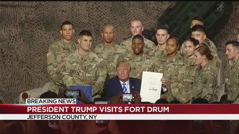 Trump signs $716B defense policy bill in Fort Drum | WHEC com