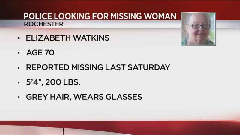 Rochester Police looking for missing 70-year-old woman with dementia