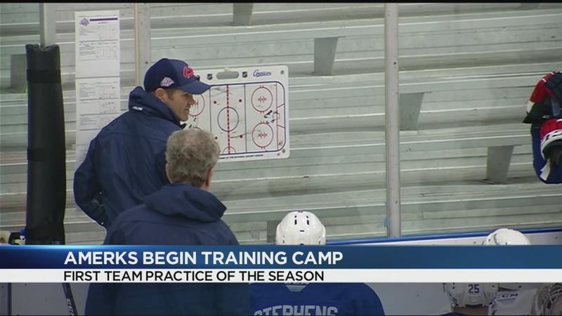 Amerks hit the ice at first day of training camp