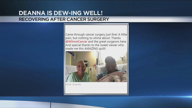 Deanna Dewberry in good spirits following cancer surgery