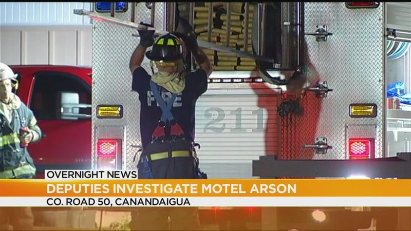 Deputies investigate motel arson in Canandaigua