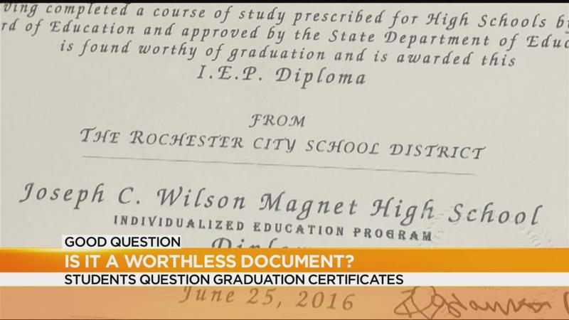 Good Question: Are graduation certificates worthless?   WHEC.com