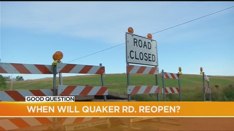 Good Question: When will Quaker Road reopen?