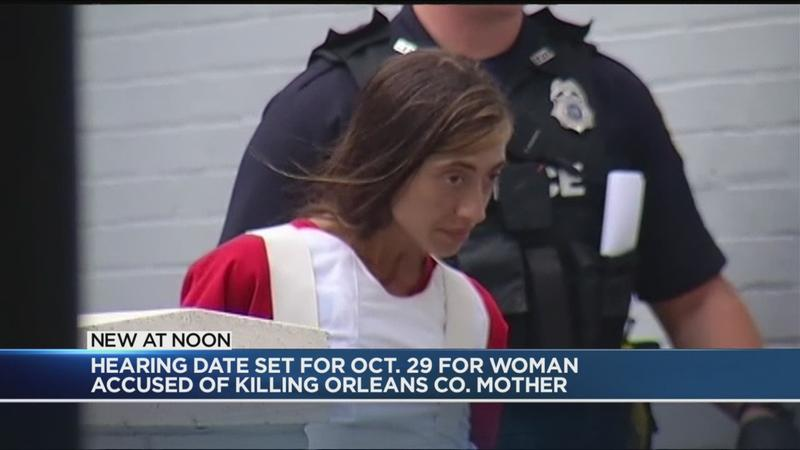 Hearing date set for woman accused of killing Orleans County mother
