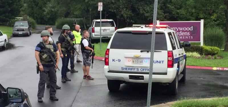 Maryland authorities were responding to the scene of a shooting with