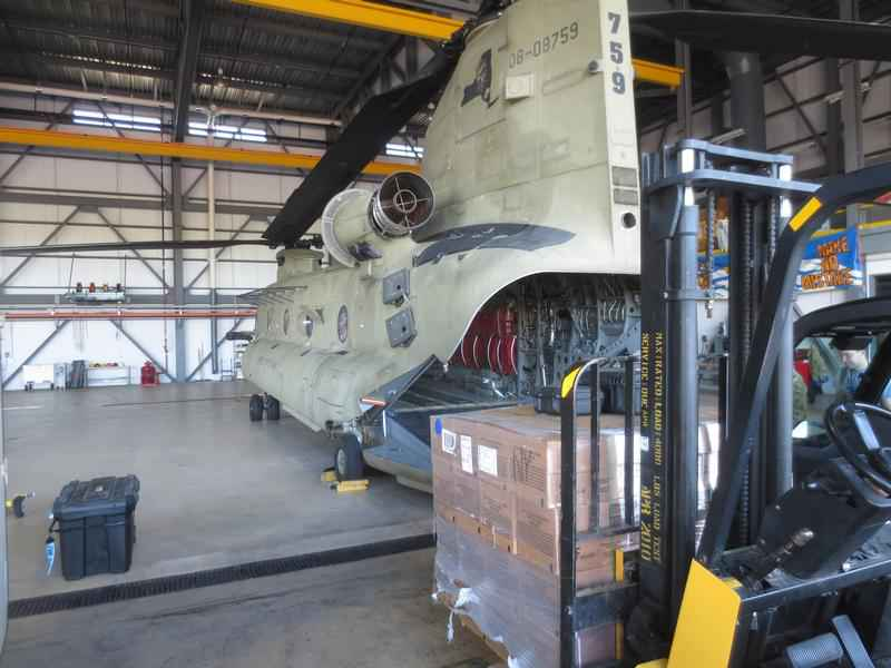 Two Rochester Army National Guard helicopters arrive in South Carolina
