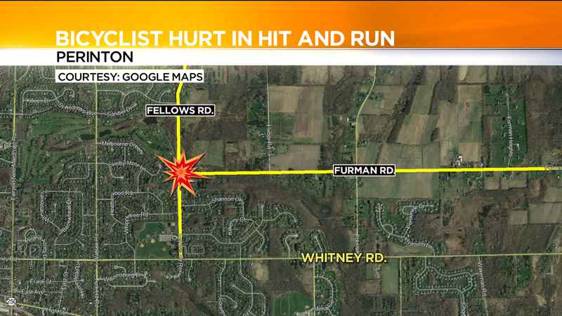 Bicyclist hurt in Perinton hit-and-run