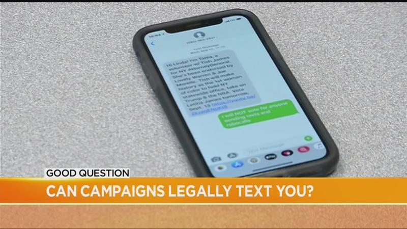 Good Question: Can political campaigns legally text you?