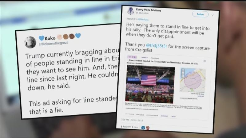 News or Noise: Paid to be at a Trump rally