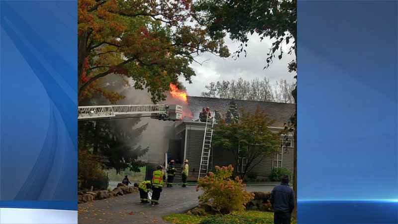 UPDATE: Road reopens following fire at Shadow Lake Country Club