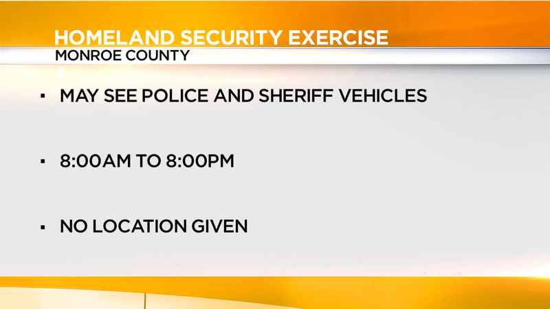 Law enforcement holding homeland security exercise in Monroe County