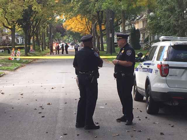 Police investigate homicide on Post Avenue.