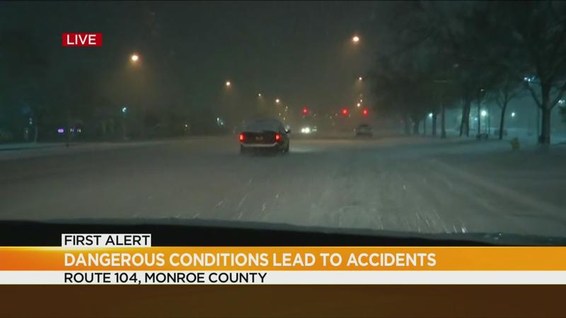 Dangerous conditions on 490 lead to accidents