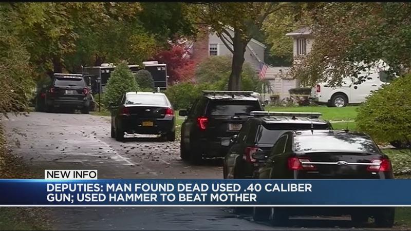 Deputies: Man found dead used .40 caliber gun to kill himself; hammer to beat his mother