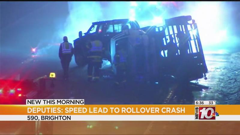 Deputies: Speed a factor in I-590 rollover crash