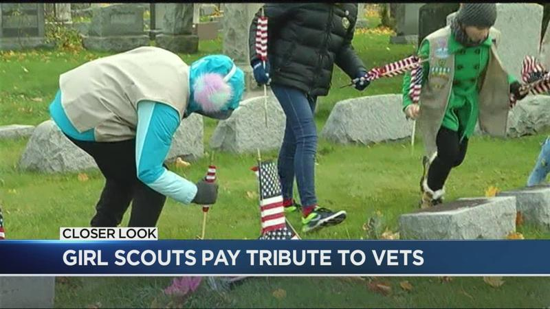 Girl Scouts pay tribute to veterans ahead of Veterans Day