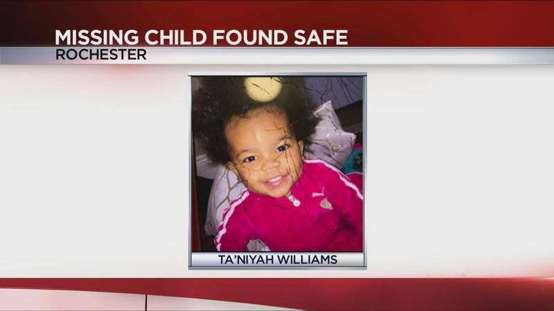 UPDATE: Missing 1-year-old Rochester girl found safe