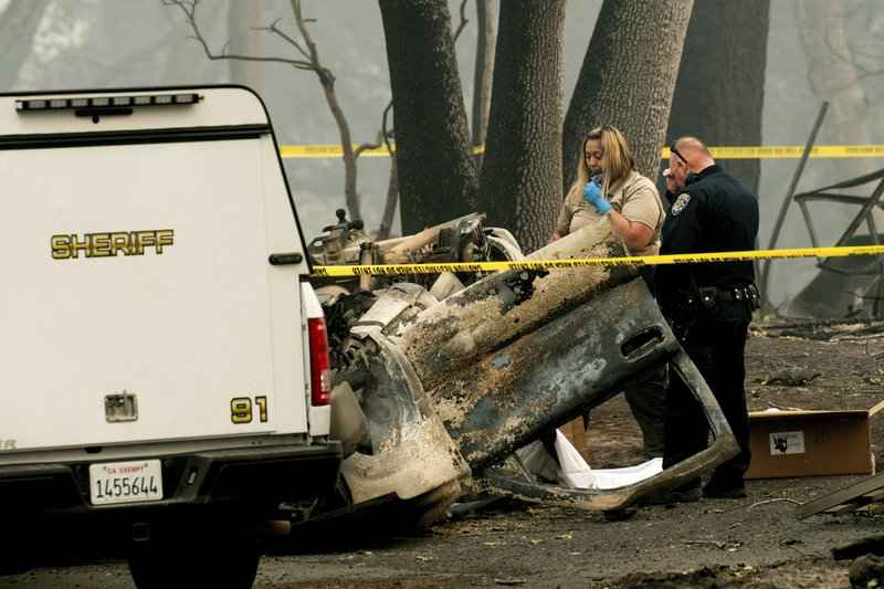 The Latest: Authorities report 7 more fatalities in wildfire