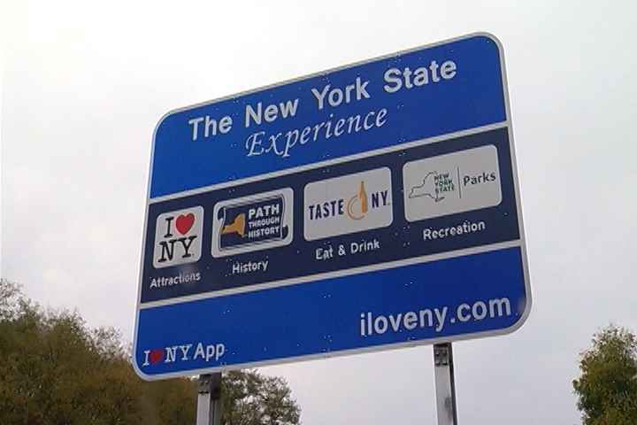 Crews start removing highway 'I Love NY' tourism signs