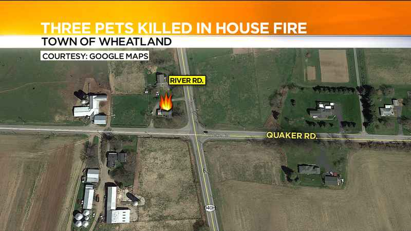Pets killed in Wheatland house fire