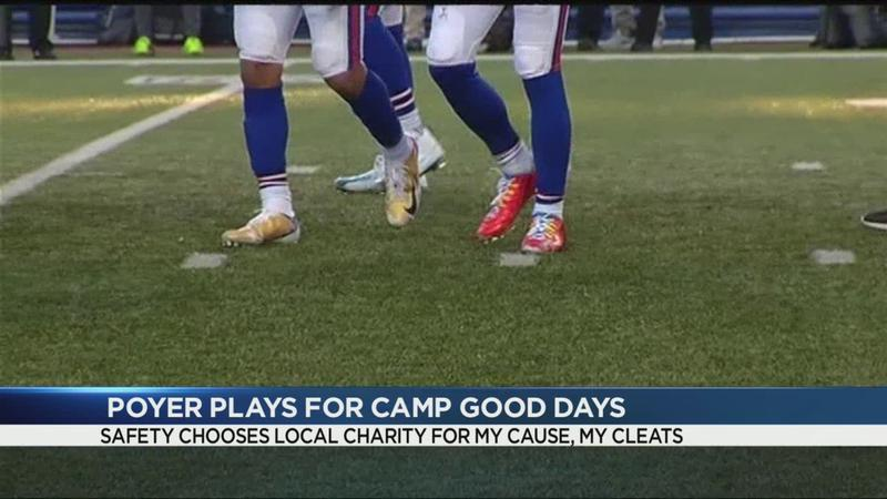 Bills Poyer plays for Camp Good Days