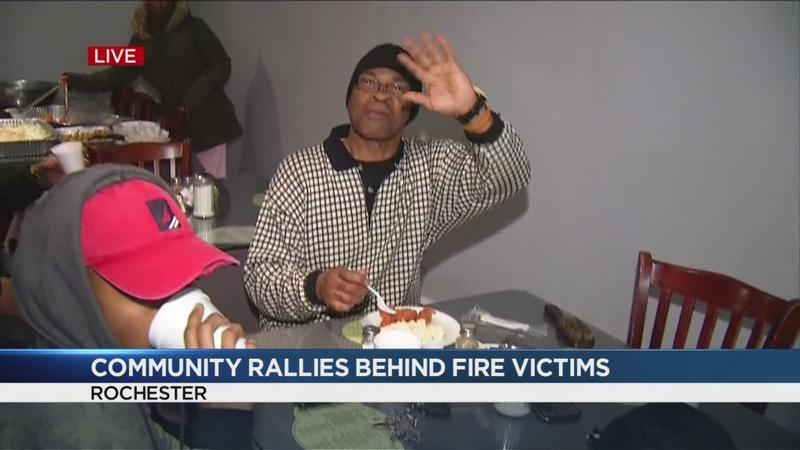 Community holds Christmas dinner for fire victims who lost everything