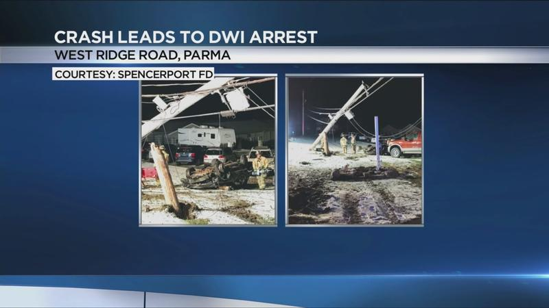 Driver arrested for DWI after crash in Parma knocks out power