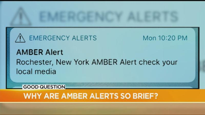 Good Question: Why are Amber Alerts so brief?