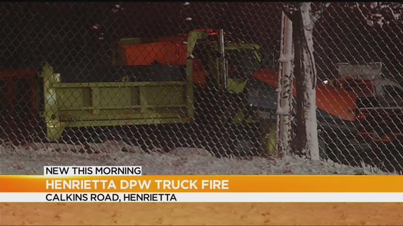 Henrietta DPW truck goes up in flames